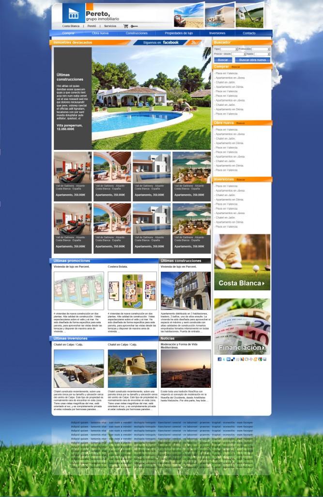 Web Peretó Grupo inmobiliario