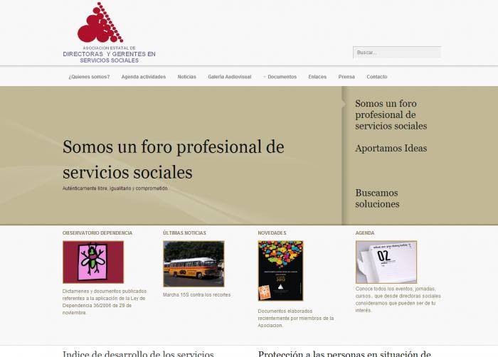 Web Asociación estatal de Directores sociales.